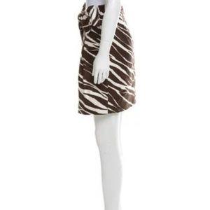 kate spade Skirts - NWOT KATE SPADE BROWN ANIMAL PRINT WITH BOW SKIRT